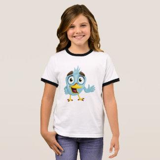 Camiseta Ringer Pássaro pequeno bonito