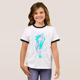 Camiseta Ringer Princesa Azul