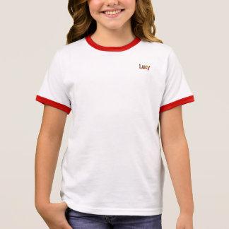 Camiseta Ringer T-shirt da campainha da menina de Lucy