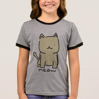 Camiseta Ringer T-shirt da campainha da menina do Meow