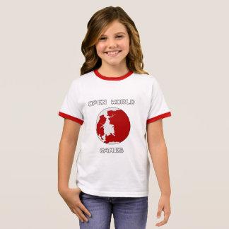 Camiseta Ringer T-shirt da campainha da menina dos jogos,