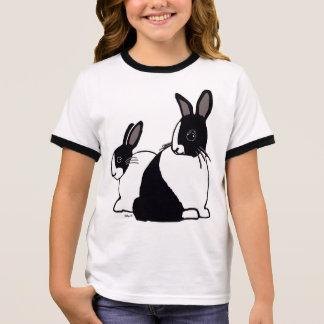 Camiseta Ringer T-shirt da campainha da menina holandesa preta &