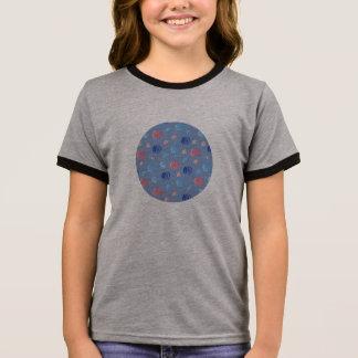 Camiseta Ringer T-shirt da campainha das meninas chinesas das