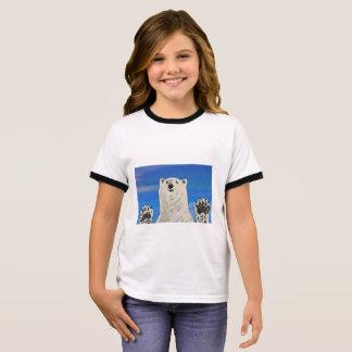 Camiseta Ringer t-shirt do urso polar, miúdo