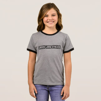 Camiseta Ringer T-shirt empilhado terra da campainha dos doces