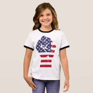 Camiseta Ringer T-shirt para o americano dos patriotas