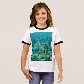 Camiseta Ringer Tesouro do recife de corais da sereia
