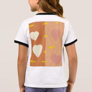 Camiseta Ringer Vento do t-shirt da campainha da menina do amor