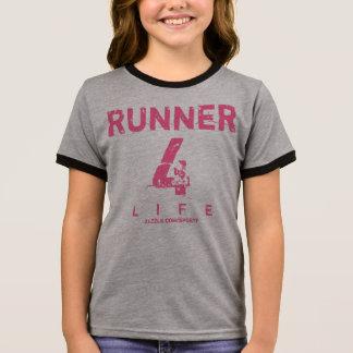 Camiseta Ringer Vida do corredor 4 - rosa