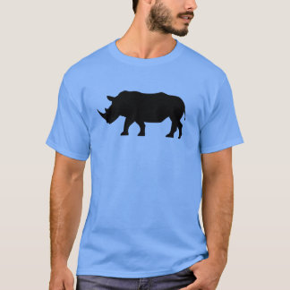 Camiseta Rinoceronte preto da silhueta