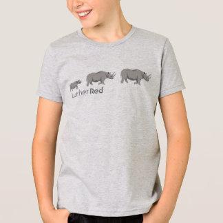 """Camiseta Rinoceronte """"preto """" vermelho de Luther"""
