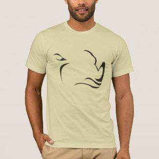 Camiseta rinoceronte simplificado