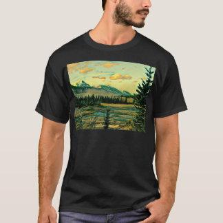 Camiseta Rio do parque nacional de jaspe com Mountain View