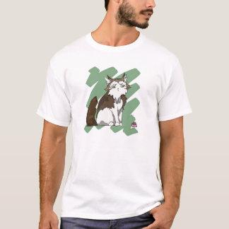Camiseta Risco de gato norueguês da floresta