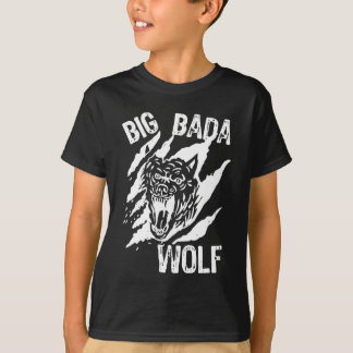 Camiseta Riscos grandes da pata do lobo de Bada