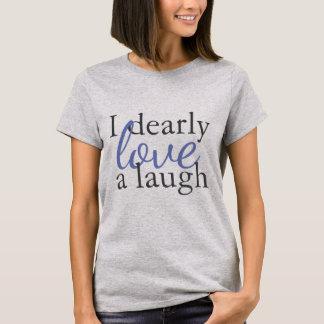 Camiseta Riso do amor das citações   de Jane Austen da
