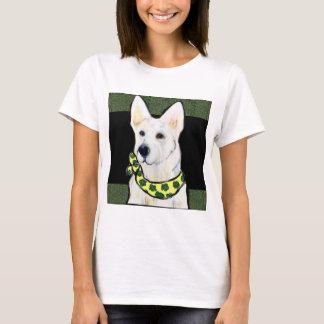 Camiseta Rissol branco do St. do german shepherd