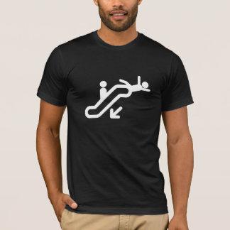 Camiseta Riyah-Li projeta o aviso da escada rolante
