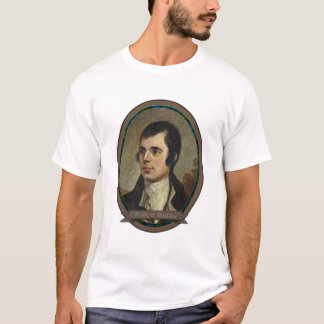 Camiseta Robert Burns, retrato do bardo nacional de