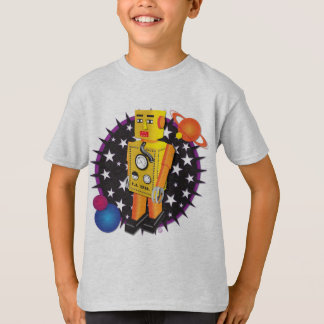 Camiseta Robô amarelo da lata