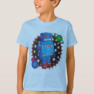 Camiseta Robô azul grande
