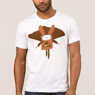 Camiseta Robô do herói com orelhas do coelho