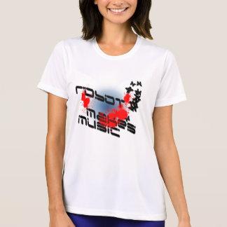 Camiseta robô-fazer-música-splatter
