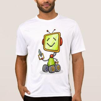 Camiseta Robô feliz no T do Active dos homens das rodas