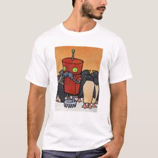 Camiseta Robô & pinguins