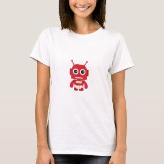 Camiseta Robô retro vermelho