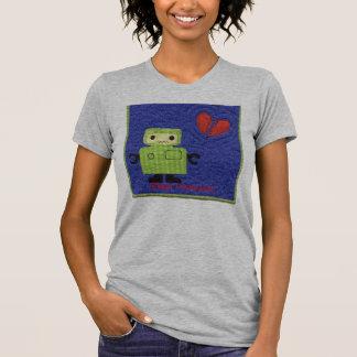 Camiseta robô, sinal acústico; Eu falto-o