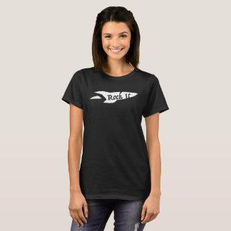 Camiseta Rocha das senhoras ele T