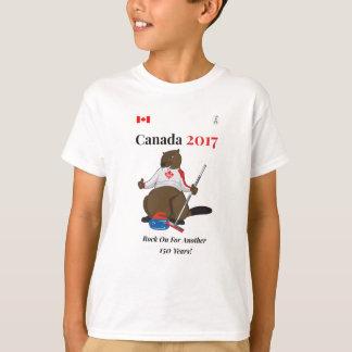 Camiseta Rocha de ondulação de Canadá 150 em 2017 sobre
