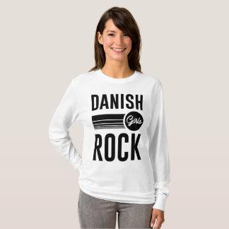 Camiseta rocha dinamarquesa das meninas