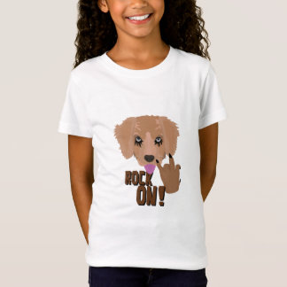 Camiseta Rocha do filhote de cachorro do metal pesado sobre