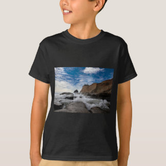 Camiseta Rocha do monte de feno na costa EUA de Kiwanda