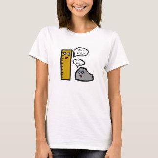 Camiseta Rocha e régua