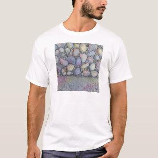 Camiseta Rocha e seixos Pastel do rio
