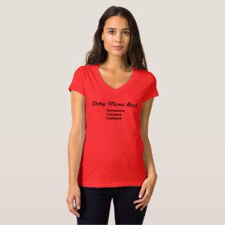 Camiseta Rocha militar das mães - orgulho vermelho de