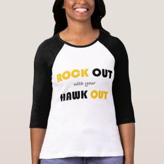 Camiseta Rocha para fora com seu falcão para fora
