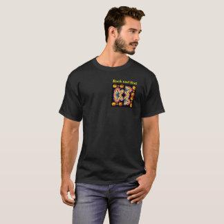 Camiseta Rocha, rolo, repetição como necessário
