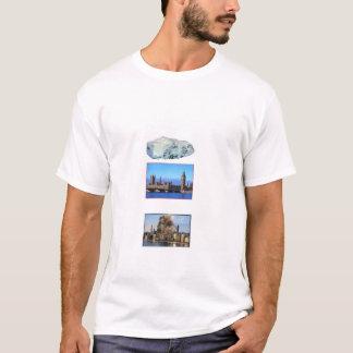 Camiseta Rocha sobre Londres, rocha em Chicago