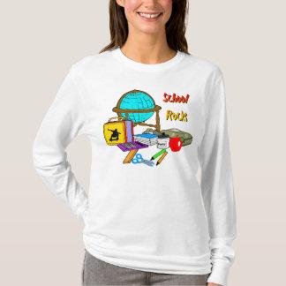 Camiseta Rochas da escola - fontes de escola