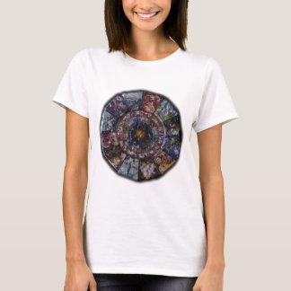 Camiseta Roda chinesa colorida do zodíaco