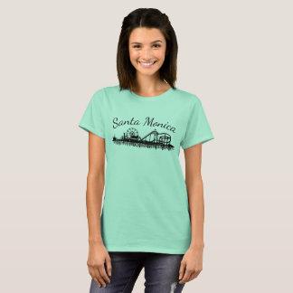 Camiseta Roda de Ferris da praia do cais de Califórnia