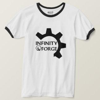 Camiseta Roda denteada preta & branca T