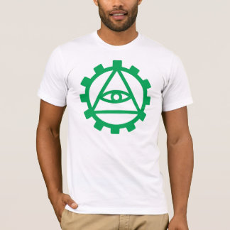 Camiseta Roda denteada verde