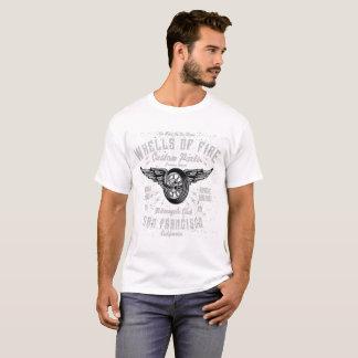 Camiseta rodas do tshirt dos homens do fogo