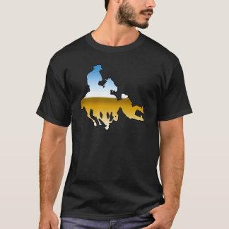Camiseta Rodeio - perseguição de Bull; luta do boi