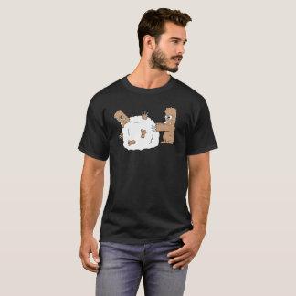 Camiseta Rolado acima do t-shirt do Yeti